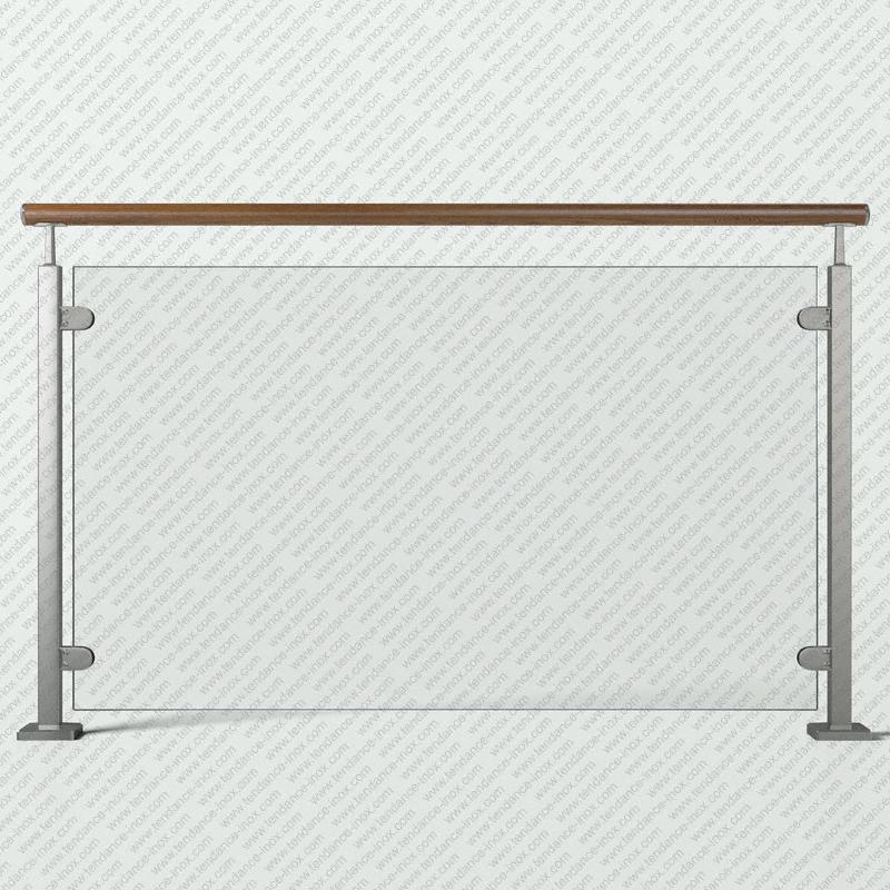 garde-corps inox et bois verre plein modele tendance-inox GCVFBRLDR
