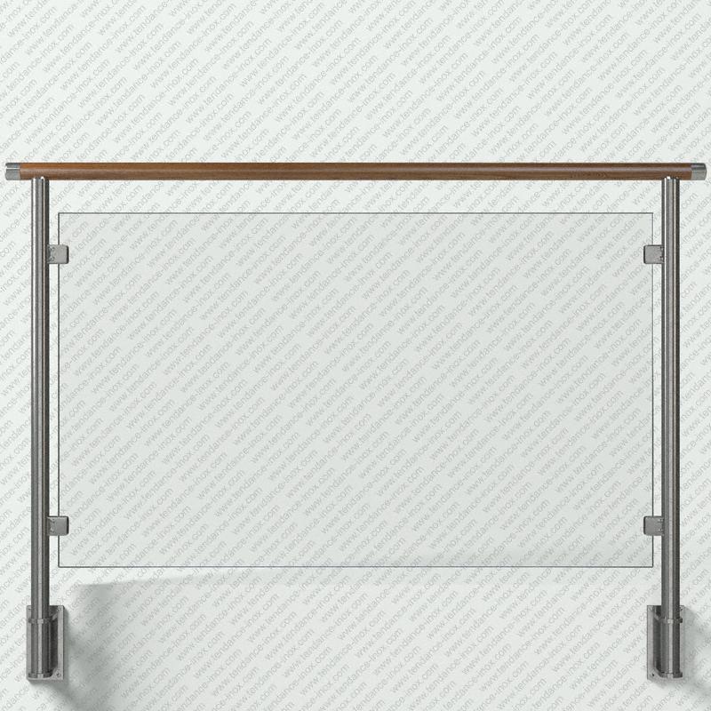 garde-corps inox et bois verre plein modele tendance-inox VACBCC