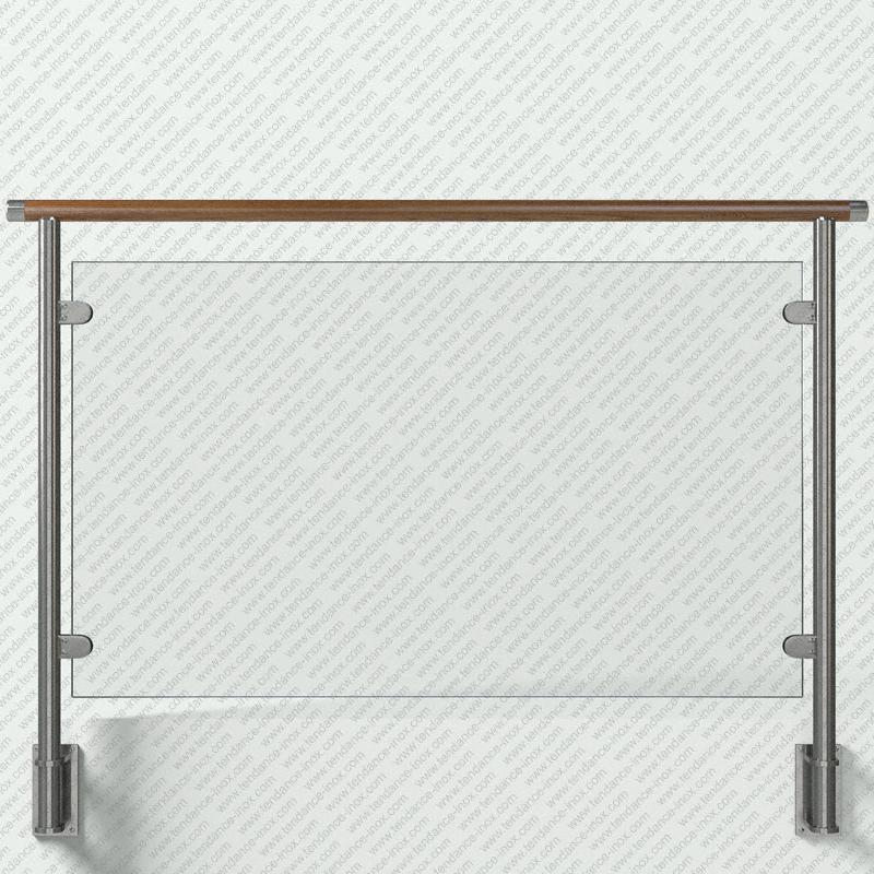 garde-corps inox et bois verre plein modele tendance-inox VACBCDR