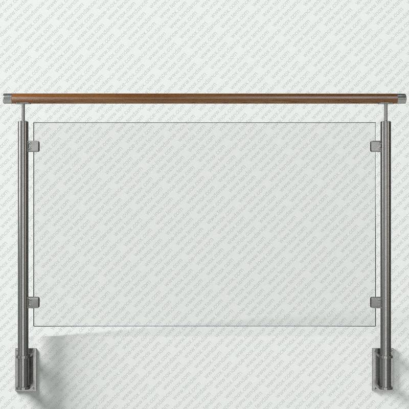 garde-corps inox et bois verre plein modele tendance-inox VACBLC