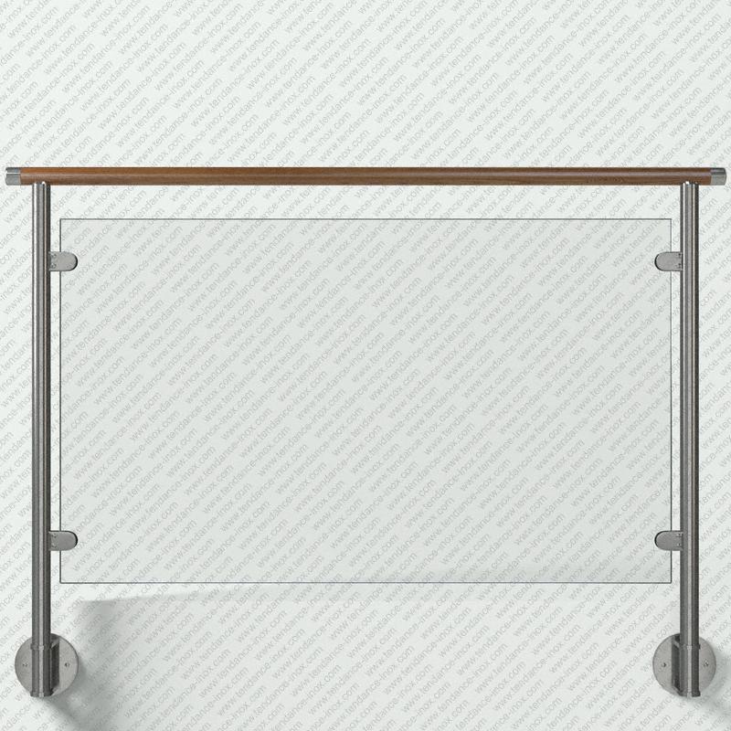 garde-corps inox et bois verre plein modele tendance-inox VARBCDR