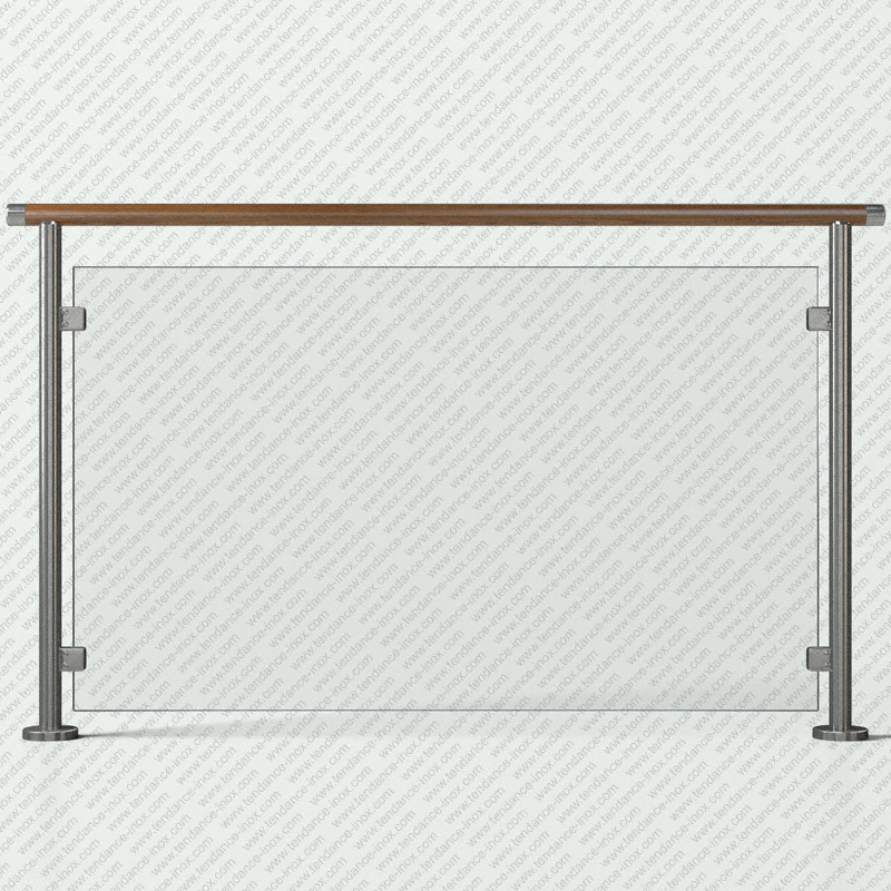 garde-corps inox et bois verre plein modele tendance-inox VFBCC