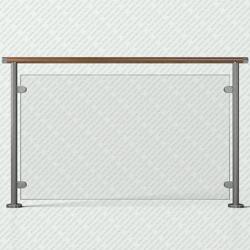 garde-corps inox et bois verre plein modele tendance-inox VFBCDR