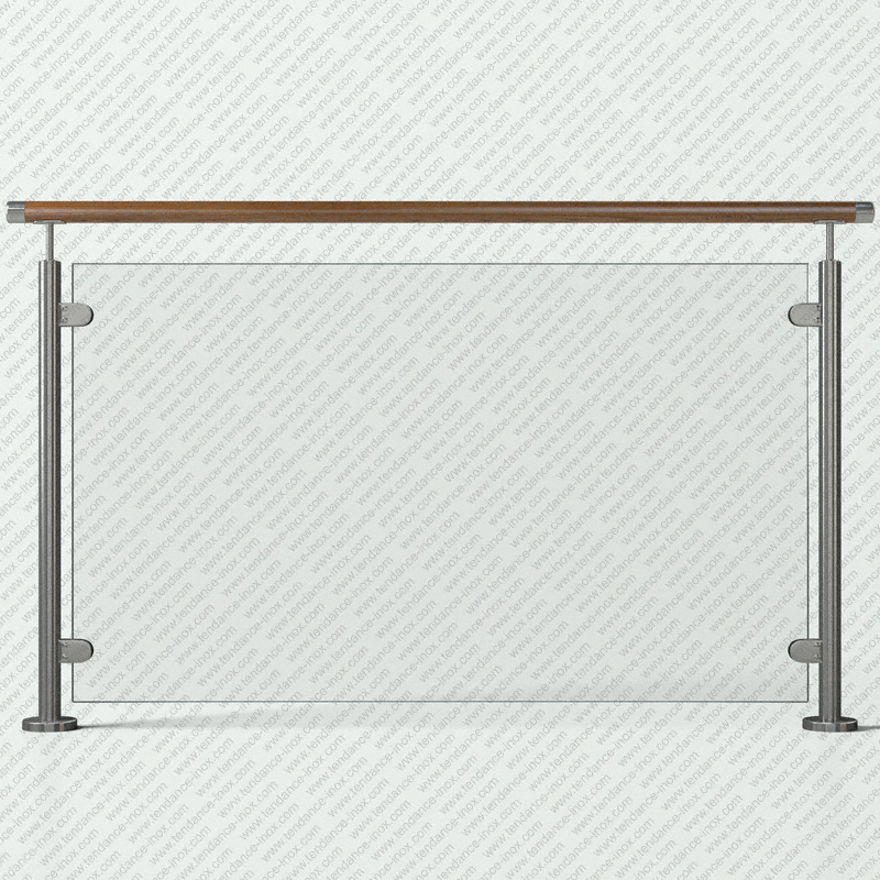 garde-corps inox et bois verre plein modele tendance-inox VFBLDR