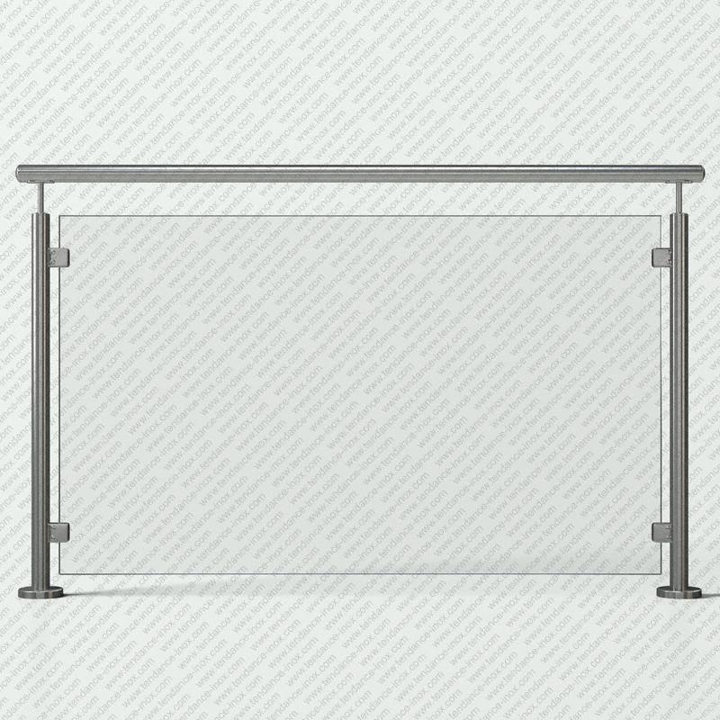 garde-corps inox verre plein modele tendance-inox VFILC