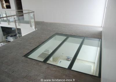 Garde-corps-Inox-sur-mesure-cable-verre-Plancher dalle de verre_tendance-inox-21