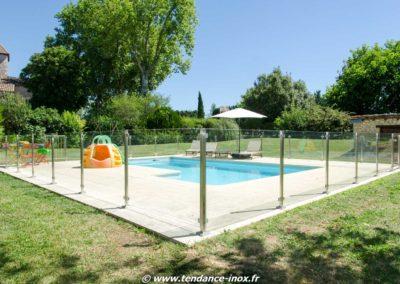 Barrière de piscine, portillons à serrure de sécurité