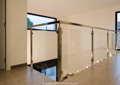 rampe inox carrée sur mesure