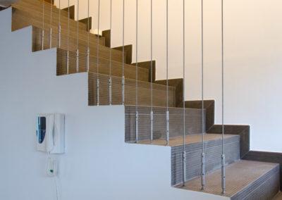 Garde-corps inox marche escalier